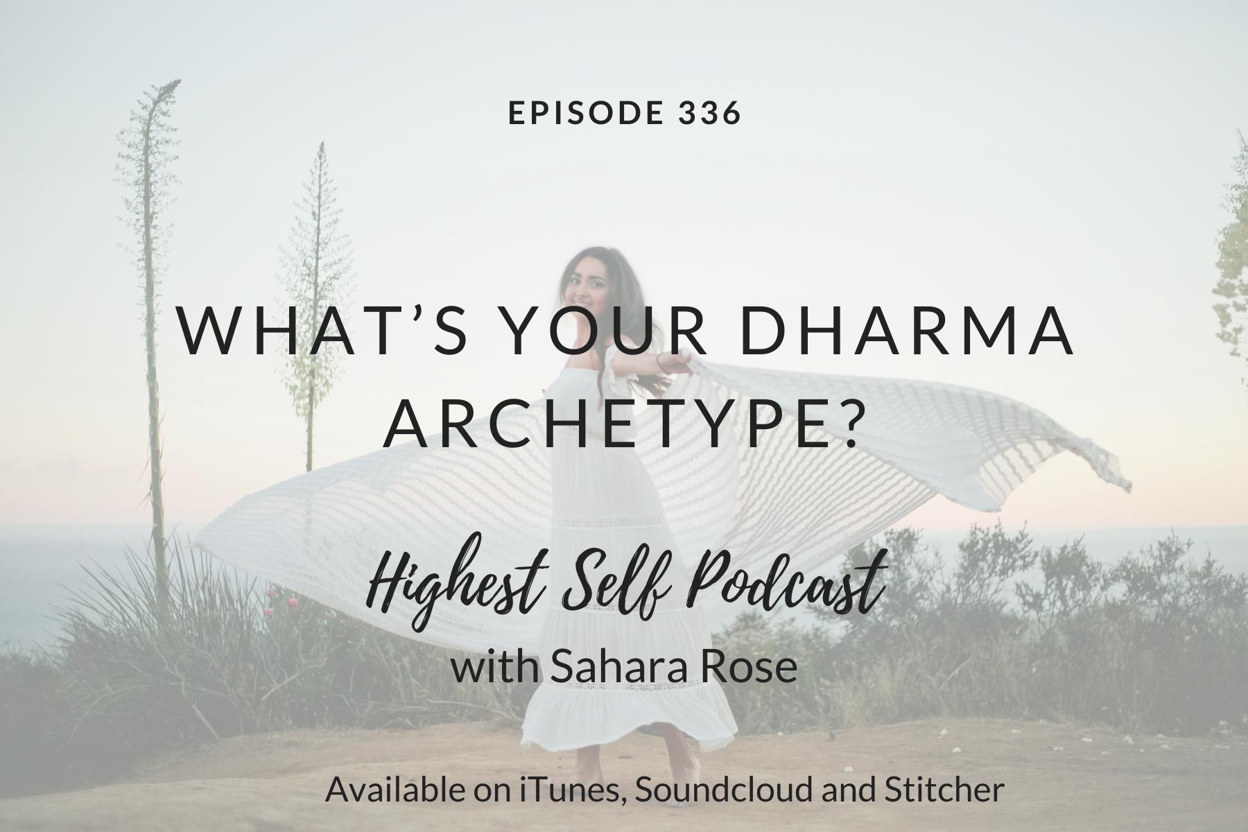 your dharma archetype