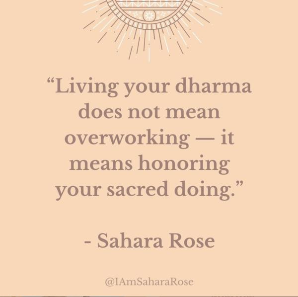 dharmic path